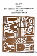 Mars-PE48004 Su-27 interior, for Academy/Modelist