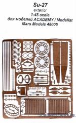 PE parts for Tu-16K-26    1//72  Mars Models # PE72004