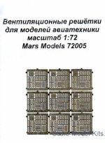 Mars-PE72005 Ventilation grilles for model aviation