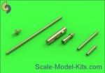 AM-48-089 MiG-15 & MiG-15bis - 37mm and 23mm gun barrels set, antenna base & Pitot Tube