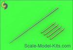 AM-48-094 MiG-19PM (Farmer E) - missile rails nose parts, 4pcs & Pitot Tube