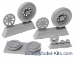 NS32042-a Wheels set for Vought F4U Corsair - No mask series