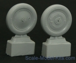 Wheels set for Soviet Polikarpov I-16 - No mask