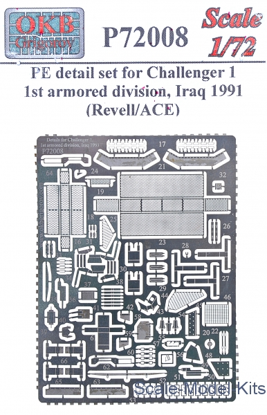 Details for Challenger 1, 1st armored division, Iraq 1991 (Revell/ACE)