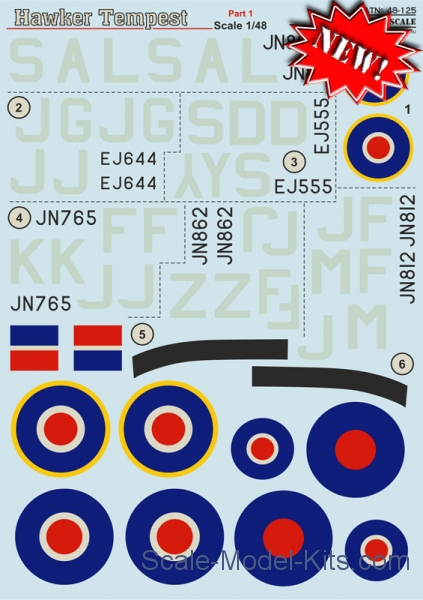 Decal for Hawker Tempest, part 1