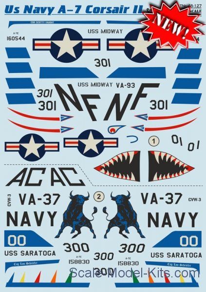 Decal for US Navy A-7 Corsair ll, part 2
