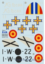 PRS32-016 Decal for Polikarpov I-16, part 2