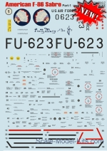 PRS32-017 Decal for F-86 Sabre, part 1