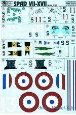 PRS48-046 Decal for fighter Spad VII-XVII, Part 1