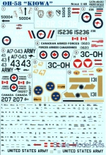 PRS48-061 Decal for Kiowa Helicopter, Part 2