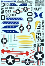 PRS48-109 Decal for Grumman F9F Panther, part 2