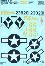 PRS48-115 Decal for Boeing B-17 Flying Fortress, part 1