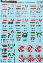 PRS48-129 Decal for MIG-29 Iranian