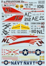 PRS72-265 Decal for US Navy F-4 Phantom IIs, part 1