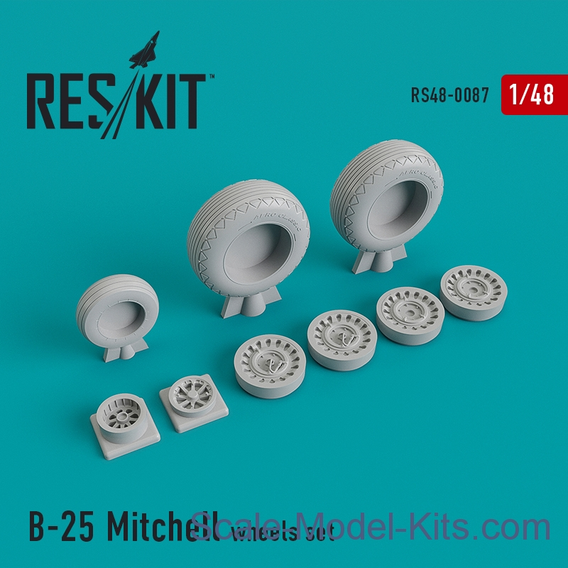 "Wheels set for North American B-25 ""Mitchell"""