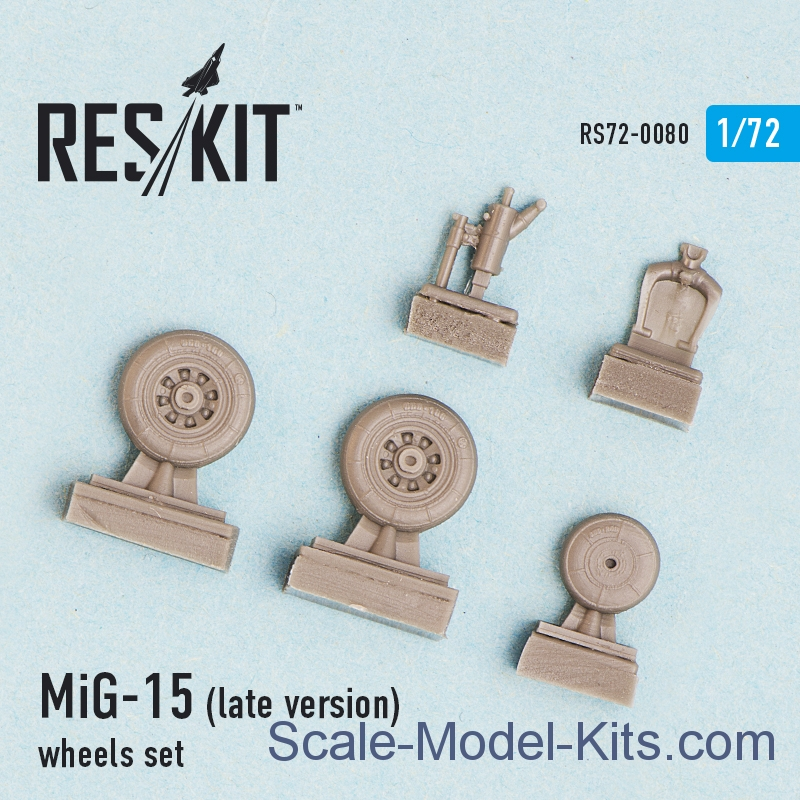 Wheels set for MiG-15 (late version)
