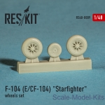 RS48-0009 Wheels set for F-104 (E) and CF-104 Starfighter (1/48)