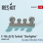 RS48-0011 Wheels set for F-104 (G/S) Turkish Starfighter (1/48)