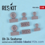 RS48-0054 Wheels set for Uh-34 Seahorse / Westland Wessex (NAVY versions)