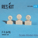 RS72-0004 Wheels set for F-5 (A/B) (1/72)