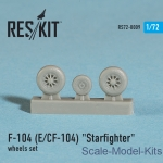 RS72-0009 Wheels set for F-104 (E) and CF-104 Starfighter (1/72)