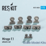 RS72-0035 Wheels set for Mirage F.1 (1/72)