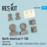 "Decals / Mask: Wheels set for North American F-100 ""Super Sabre"", Reskit, Scale 1:72"