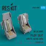RSU72-0005 Upgrade Set for MI-24 HIND Pilot Seat With PE Safety Belts