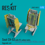 RSU72-0012 Upgrade Set for CH-53 Seat with PE Safety Belts