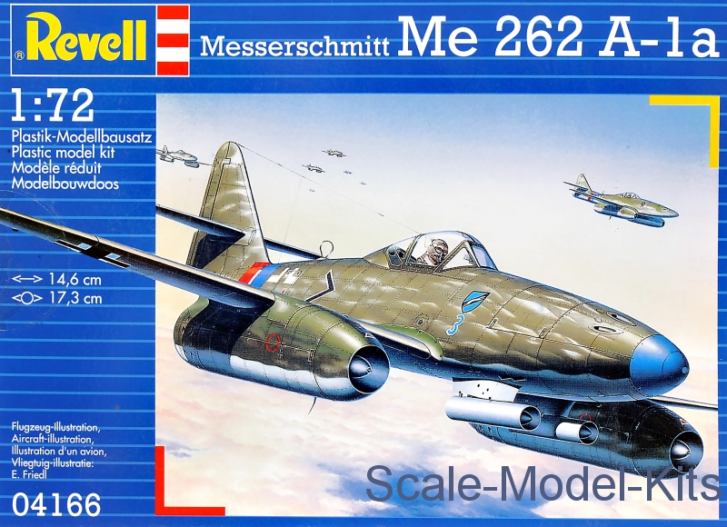 Revell - Me 262 A1a - plastic scale model kit in 1:72 scale