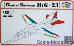 RVM-D72006 Detailing set 1/72 Mikoyan MiG-23 Control Surfaces