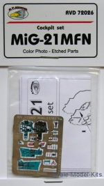 RVM-D72026 Detailing set 1/72 Mikoyan MiG-21MFN Color photo-etched parts