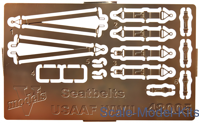 Photoetched set of details Seatbelts USAAF WWII