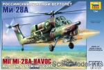 Helicopters: Mi-28A 'Havoc' Russian attack helicopter, Zvezda, Scale 1:72