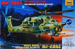 Helicopters: Mil Mi-28N Russian attack helicopter, Zvezda, Scale 1:72